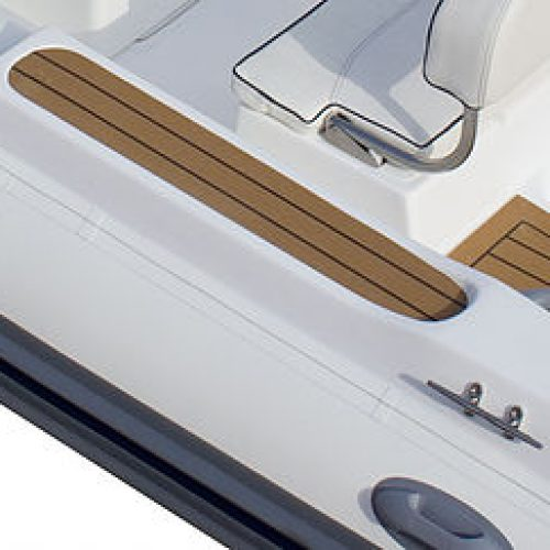 TUBE SIDE STEP WITH TEAK, HANDLE AND CLEAT